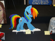 Rainbow Dash at BrickCon