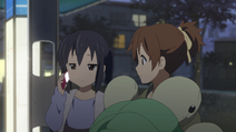 Azusa got called by Yui