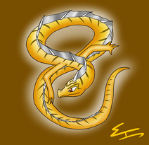 Golden treasure dragon