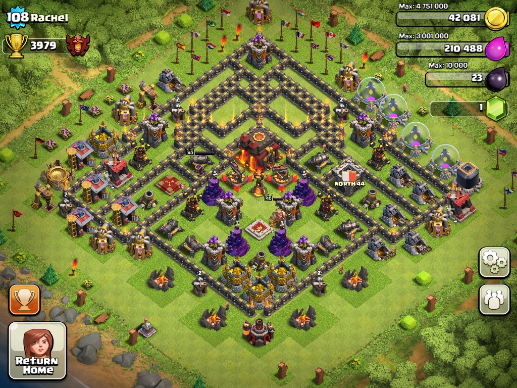 Clash of Clans Town Hall Level 9