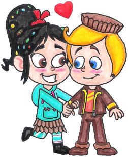 Vanellope and Rancis, 'Ranellope' - Sugar Rush kingdom Wiki