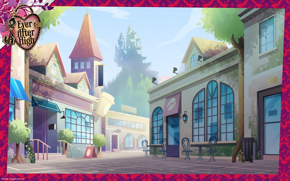 located next to ever after high and the enchanted forest the students