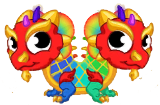 Double Rainbow Dragon Dragon Vale