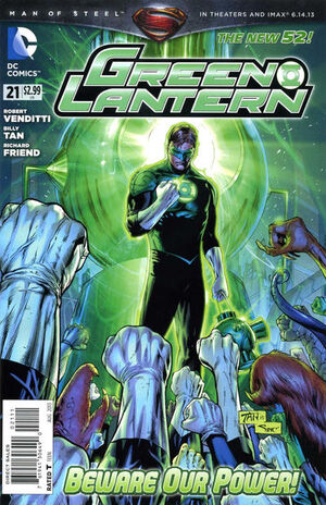 Cover for Green Lantern #21 (2013)