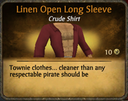 Red Linen Open Long SleeveDC