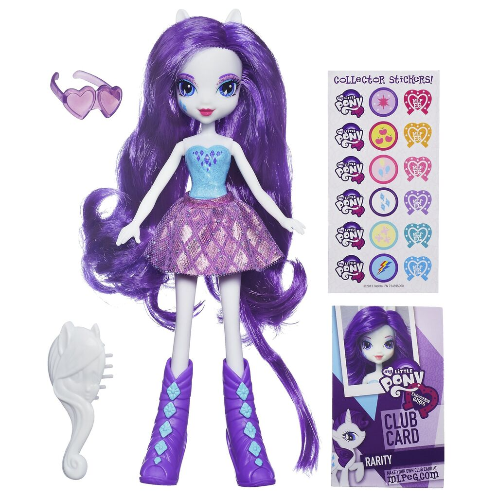 HASBRO Equestria Girls - Mon petit poney devient une fille ! 1024px-Rarity_Equestria_Girls_doll