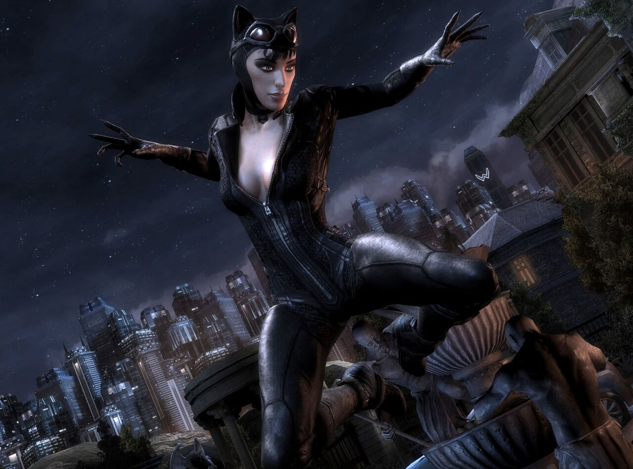 Catwoman arkham city unzipping her suit xvideos pornos comic