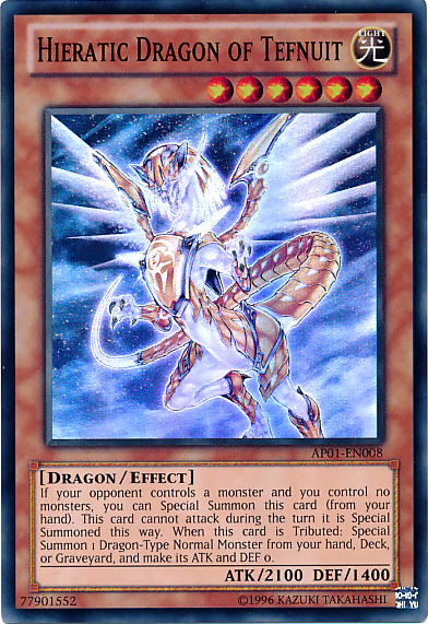 Shining the road to glory, join the Hieratic Dragons! HieraticDragonofTefnuit-AP01-EN-SR-UE