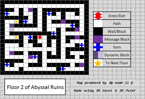 Map of abyssal ruins in pokemon black images pokemon images for Floor 2 map swordburst 2