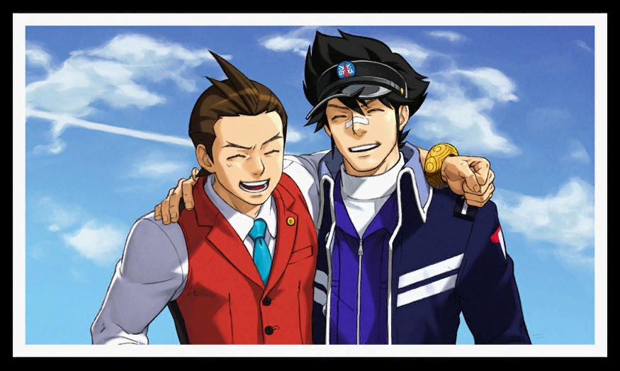 So    Apollo and Clay  *spoilers* - Phoenix Wright: Ace Attorney
