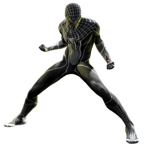 The amazing spider man black suit - photo#1