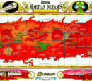 Martian Dreams Map of Mars