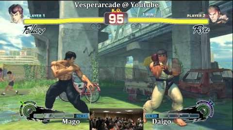 Mago(Fei-long) vs Daigo(Ryu) Grand Finals Part 1 $100 High Rollers Tournament