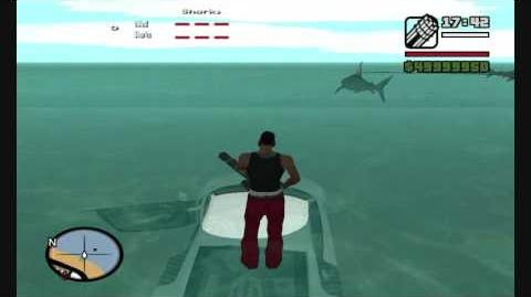 GTA SA Shark attack Mod