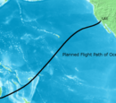 Flight path of Oceanic 815