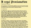 Royal Proclamation of Unionization