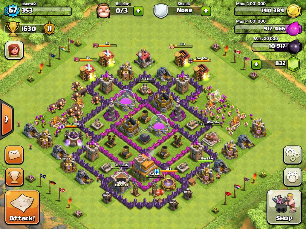 Clash of Clans Th 7 Farming Base