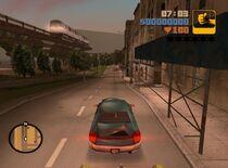 Una foto de GTA III, se nota el paisaje y el realismo que hay en el juego.