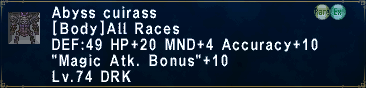Beaucadine 12/4 (Win!) Abyss_Cuirass