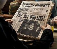 Prorok Codzienny oskarża Harry'ego Pottera o rzekome kłamstwo, jakoby Lord Voldemort powrócił.