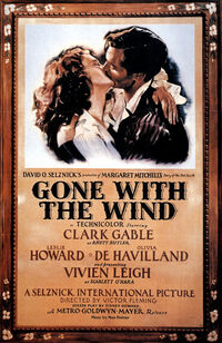 Original 1939 film poster of Gone with the Wind