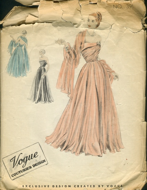 Vogue 391 - Vintage Sewing Patterns :  wedding vintagepatterns vintage sewing patterns formal
