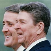 Muroney with Reagan - happier days