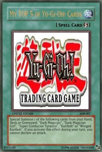 This is the coveted Yu-Gi-Oh card, in the Yu-Gi-Oh card game, which started a TV show. Excuse me, what?