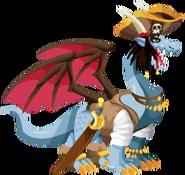 Pirata do dragão 3d