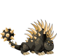 Hedgehog dragão 3d